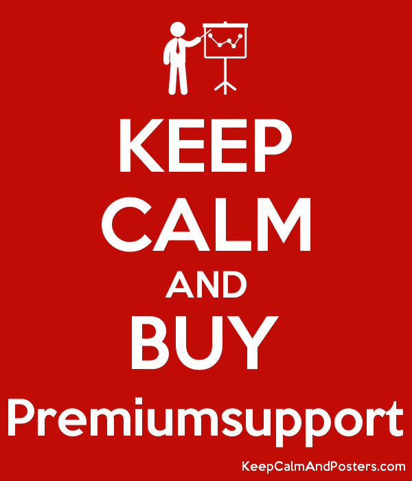 KEEP CALM AND BUY Premiumsupport Poster