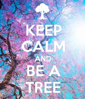 KEEP CALM AND BE A TREE