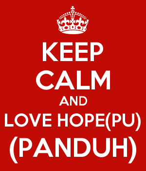 KEEP CALM AND LOVE HOPE(PU) (PANDUH)