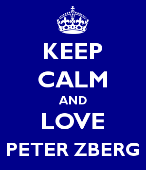 KEEP CALM AND LOVE PETER ZBERG