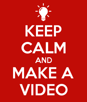 Bilderesultat for keep calm and make a video