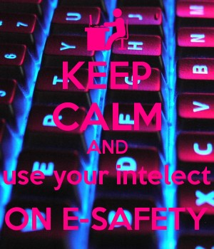 KEEP CALM AND use your intelect ON E-SAFETY