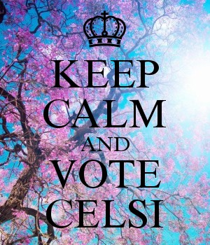 KEEP CALM AND VOTE CELSI