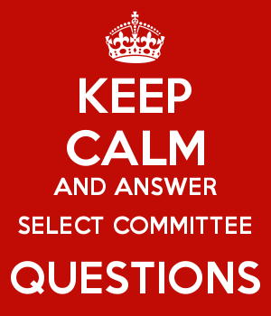 KEEP CALM AND ANSWER SELECT COMMITTEE QUESTIONS