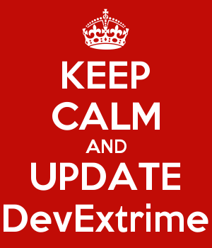 KEEP CALM AND UPDATE DevExtrime