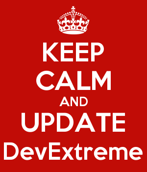 KEEP CALM AND UPDATE DevExtreme