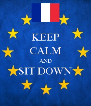 KEEP CALM AND SIT DOWN