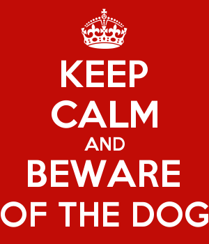 KEEP CALM AND BEWARE OF THE DOG