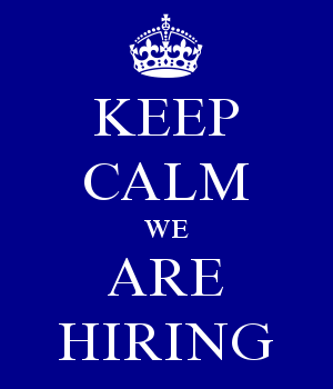 KEEP CALM WE ARE HIRING