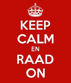 KEEP CALM EN RAAD ON