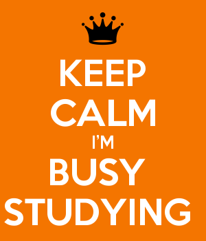 KEEP CALM I'M BUSY  STUDYING