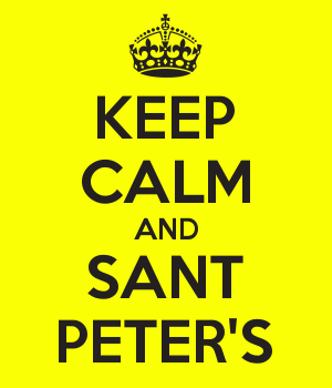 KEEP CALM AND SANT PETER'S
