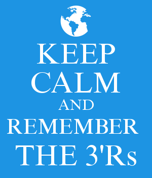 KEEP CALM AND REMEMBER  THE 3'Rs