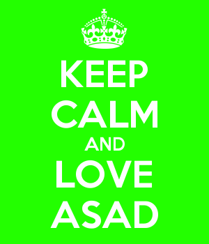 KEEP CALM AND LOVE ASAD