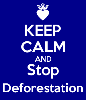 KEEP CALM AND Stop Deforestation